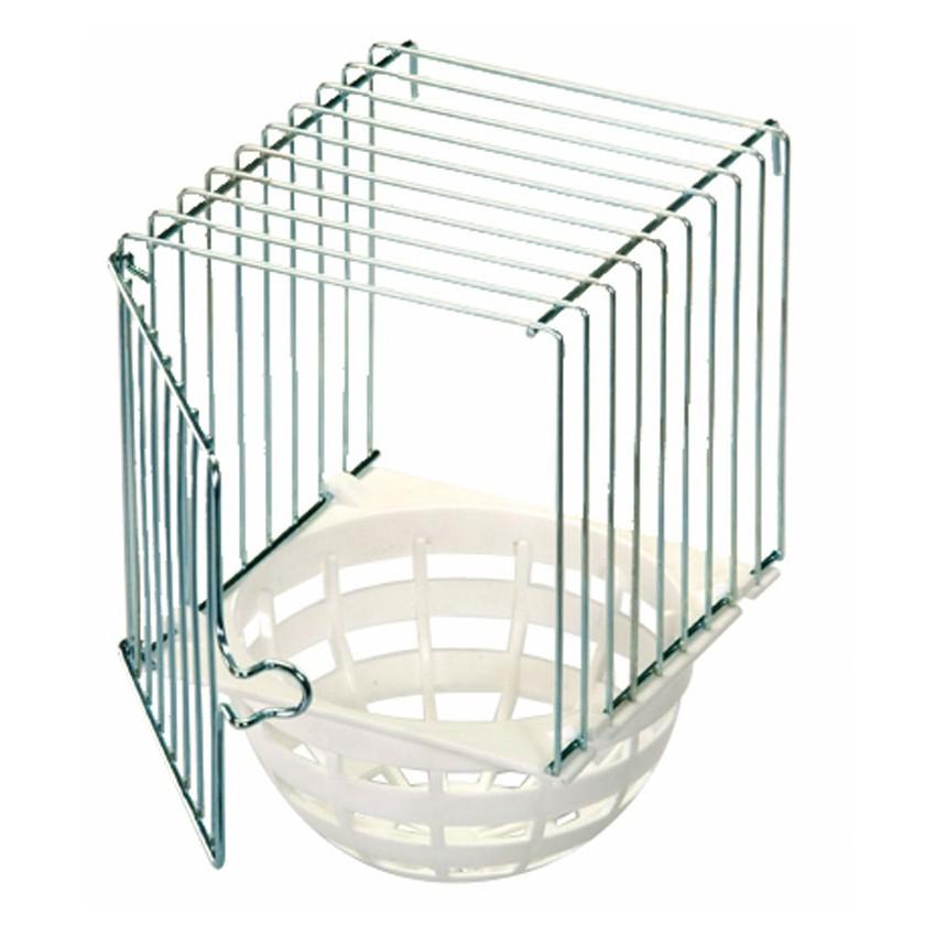 Nid ext rieur barreaux m talliques et fond plastique for Fabrication cage oiseaux exterieur