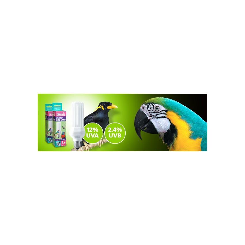 arcadia ampoule compacte solaire luminoth rapie oiseaux culot vis e27 20 w 36 40. Black Bedroom Furniture Sets. Home Design Ideas