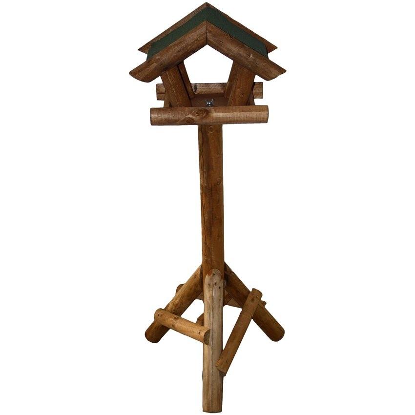 mangeoire oiseaux sur pied avec toit vert 34 60. Black Bedroom Furniture Sets. Home Design Ideas