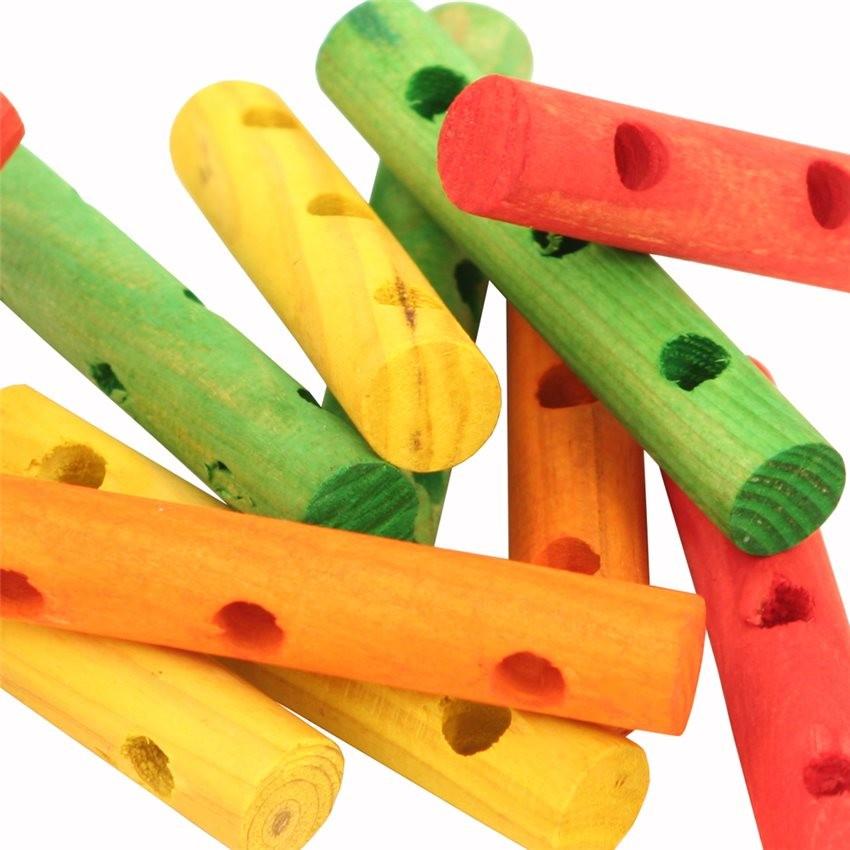 cylindres multicolores en bois perc s pi ces de jouet pour oiseaux 16 pi ces 8 90. Black Bedroom Furniture Sets. Home Design Ideas