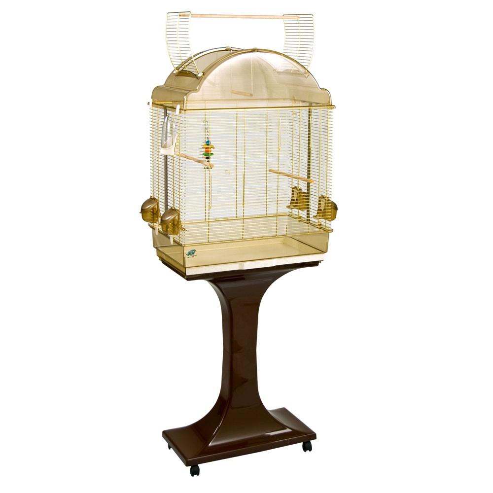 fop cage oiseaux sur pied prisca laiton 119 90. Black Bedroom Furniture Sets. Home Design Ideas