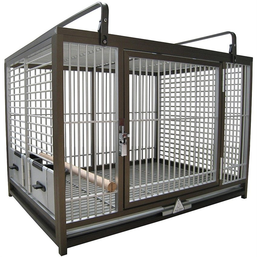 cage de transport perroquet en aluminium king 39 s cages. Black Bedroom Furniture Sets. Home Design Ideas