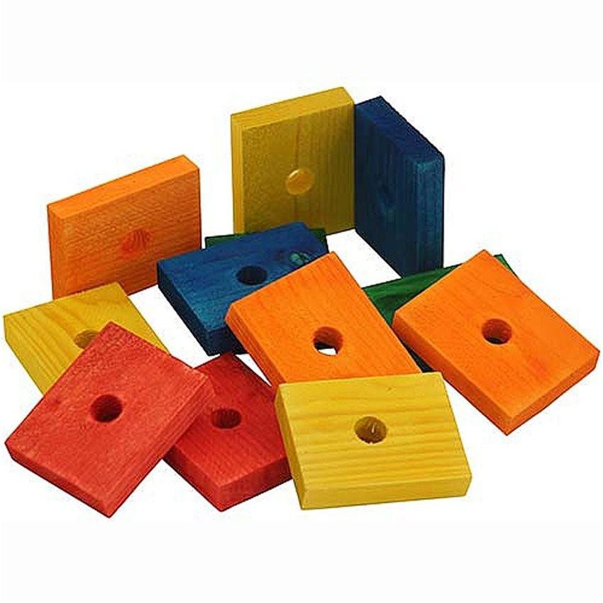 zoo max blocs de bois color s pi ce de jouet 12 pi ces 6 90. Black Bedroom Furniture Sets. Home Design Ideas