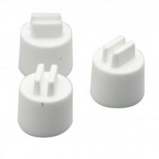 Embout en Plastique Blanc pour Perchoir Bois ou Plastique - Diamètre 15 mm