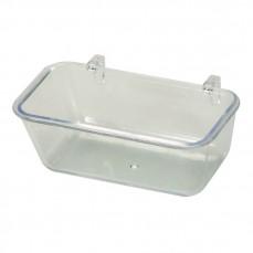 Petite Mangeoire Plastique Transparente - 95 ml
