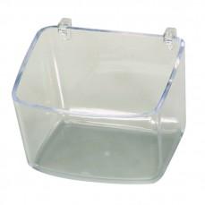 Mangeoire Plastique Transparente Profonde avec Crochets Plastiques - 400 ml