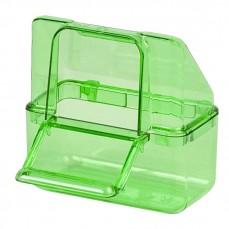 Mangeoire Italienne Extérieure en Plastique Vert
