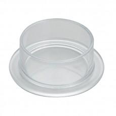 Mangeoire de sol avec base en plastique transparent