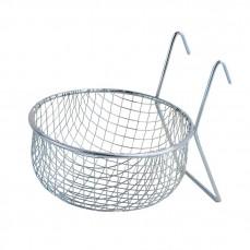 Nid pour Canaris et Exotiques en Métal avec Crochets -  Ø10 cm