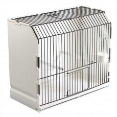 Cage d'Exposition en Plastique et Grille Noire - 1 porte