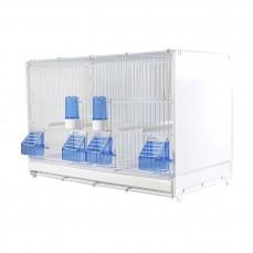 Cage d'Elevage 58 cm Blanche avec Parois Latérales en Plastique