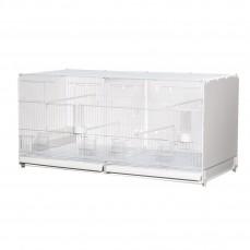 Cage d'Elevage 90cm - Modèle Positano avec Fond et Parois Latérales en Plastique