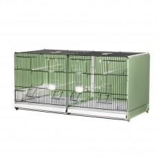 Cage d'Elevage 90cm - Modèle Portofino avec Fond et Parois Latérales en Plastique Vert et grilles noires