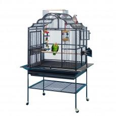 Cage Perroquet KING'S CAGES - Modèle 3224 Noir Argenté - Espacement 19 mm