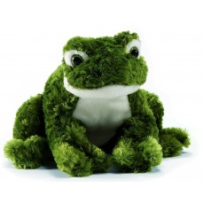 Anima - Peluche de Collection Grenouille verte (Assise ou Couchée) - 18 cm