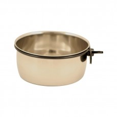 Mangeoire Inox Ronde avec Fixation à Vis 12 cm - 560 ml