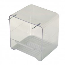 Baignoire en Plastique Transparent pour Perruches