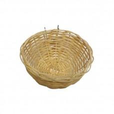 Nid pour Canaris et  Oiseaux Exotiques en Osier Tressé avec Crochets Métalliques - Ø11,5 cm
