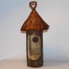 Distributeur à Cacahuètes ou Tournesol en Bois pour Oiseaux du Ciel