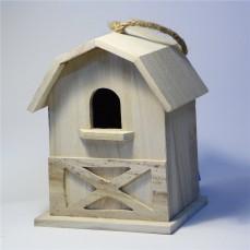 """Nichoir Type """"Mini Grange"""" en Bois Léger pour Oiseaux du Ciel"""