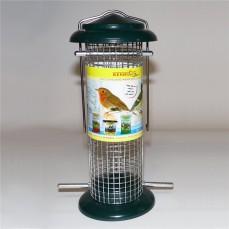 Silo à Graines ou Boules de Graisse Grillagé pour Oiseaux du Ciel
