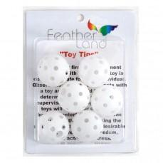 Balles Perforées en Plastique - Pièces de Jouet pour Oiseaux - 6 Pièces