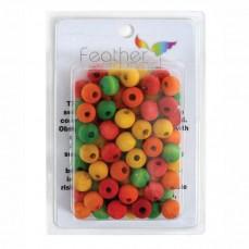 Perles Multicolores en Bois - Pièces de Jouet pour Oiseaux - Small - 75 Pièces