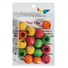 Perles Multicolores en Bois - Pièces de Jouet pour Oiseaux - Medium - 16 Pièces