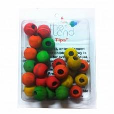 Perles Multicolores en Bois - Pièces de Jouet pour Oiseaux - Large - 24 Pièces
