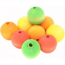 Perles Multicolores en Bois - Pièces de Jouet pour Oiseaux - Extra Large - 9 Pièces
