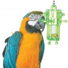Jouet de Foraging Snack Rack - Distributeur Alimentaire pour Grande Perruche et Perroquet