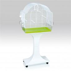 FOP - Cage Chiara Blanche avec Pied - Cage à oiseaux et Exotiques