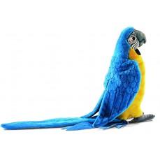 Hansa - Peluche Perroquet Ara Ararauna Bleu - 31 cm