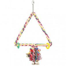 Triangle de Coton Médium - Jouet Perroquet
