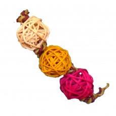Balles de Vigne Small x 3 - Jouet de Patte pour perruches et Grandes Perruches