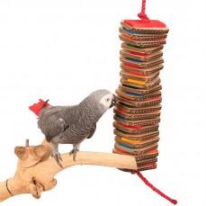 Zoo-Max - Stacks of Shredding Large - Jouet Perroquet