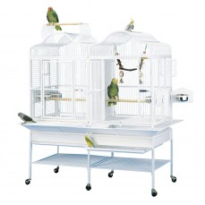 Cage Perroquet Double KING'S CAGES - Modèle 208 Blanc