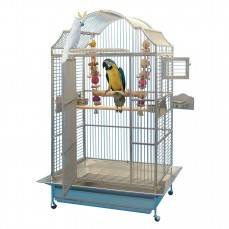 Cage Inox Perroquet KING'S CAGES - Modèle 306 Inox