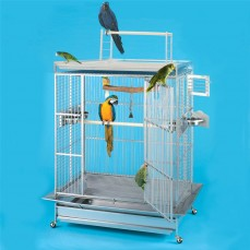 Cage Perroquet KING'S CAGES - Modèle 405-25 Inox