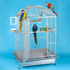 Cage Perroquet KING'S CAGES - Modèle 506 Inox