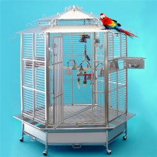 Cage Inox Perroquets KING'S CAGES - Modèle 508 Inox - espacement 25 mm