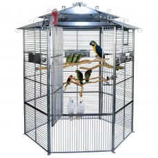 Cage Inox Perroquet KING'S CAGES - Modèle 605 Inox