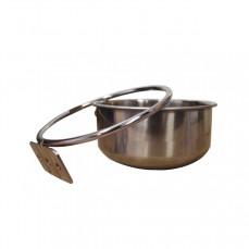 KING'S CAGES - Mangeoire Anti Décrochage Quick Lock Large Ø12,5 cm - 560 ml