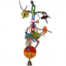 Jouet Perruche Folie-Ball en Plastique