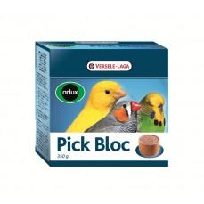 Orlux - Pick Bloc - Minéraux en Godet d'Argile Petites Perruches, Canaris et Exotiques - 350 gr