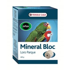 Orlux - Minéral Bloc Loro Parque - Bloc Minéral Grandes Perruches et Perroquets - 400 gr