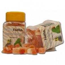 ZooFaria - Dés de Papaye Séchée - Friandise pour Oiseaux - 60 gr