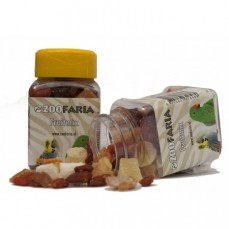 ZooFaria - Mélange de Fruits Secs en Dés - Friandise pour Oiseaux - 65 gr