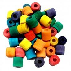 Zoo-Max - Perles Bobines en Bois Multicolores - 48 pièces