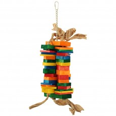Zoo-Max - Funky - Jouet en bois coloré pour Perroquets
